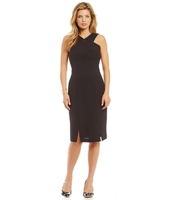 Marc New York  - Cross Front Crepe Sheath Dress