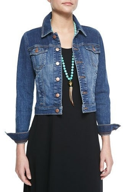 Eileen Fisher - Denim Cropped Jacket