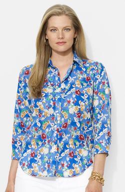 Ralph Lauren -  Floral Print Cotton Shirt
