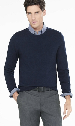 Express - Cotton-Cashmere Crew Neck Sweater