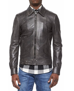 Belstaff - Heritage Ryder Faded Leather Jacket