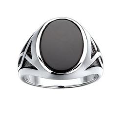 J.Goodman - Black Bhodium Accent Onyx Ring