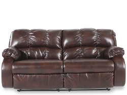 Famous Brand Furniture - Red Brown Contemporary Couch
