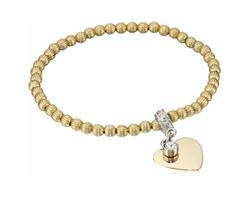 1928 Jewelry  - Beaded Stretch Charm Bracelet