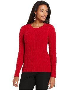 Charter Club - Cable-Knit Crew-Neck Sweater