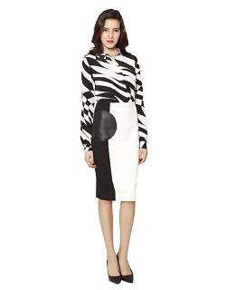 Raoul - Two Tone Graphic Swirl Blouse