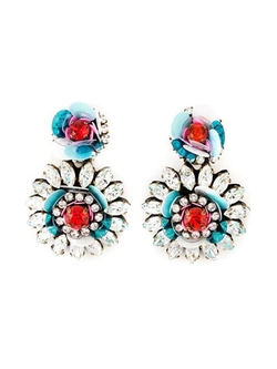 Shourouk - Flower Clip-On Earrings
