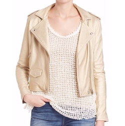 IRO  - Dune Metallic Leather Jacket