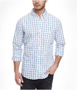EXPRESS - FITTED PLAID SOFT WASH SHIRT
