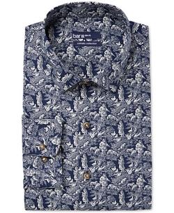Bar III Carnaby Collection - Toile Print Dress Shirt