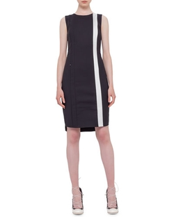 Akris Punto - Contrast-Stripe Sheath Dress