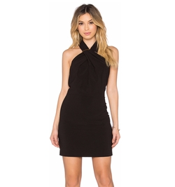 Halston - Heritage Cross Neck Mini Dress