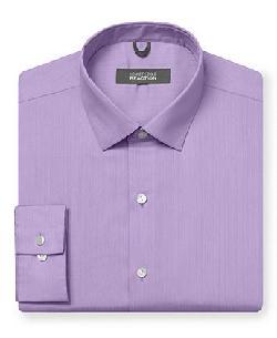 Kenneth Cole Reaction  - Dress Shirt, Tonal Stripe Long-Sleeved Shirt