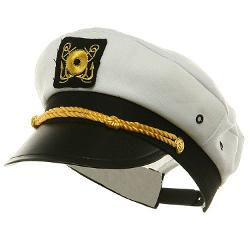 Jacobson Hat Company  - Adjustable Yacht Cap-White Captain Costume Hat