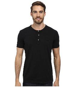 Lacoste  - Short Sleeve Vintage Wash Henley T-Shirt