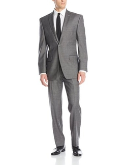 Calvin Klein  - Malik Texture Two-Button Side-Vent Suit
