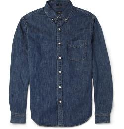 J.Crew   - Slim-Fit Button-Down Collar Denim Shirt