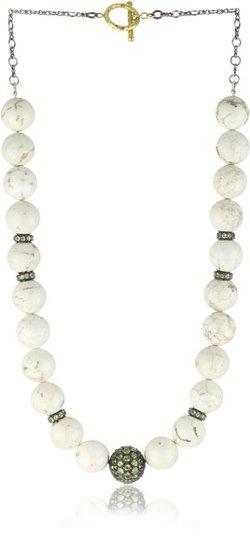 Jordan Alexander  - Turquoise with Peridot Bead Necklace