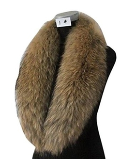 Bag2good - Raccoon Fur Collar Scarf