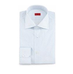 Ike Behar - Dot-Print Dress Shirt