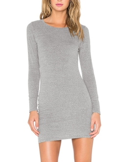Romwe - Long Sleeve Bodycon Dress