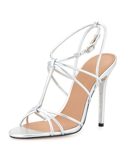 Halston Heritage  - Anita Strappy Metallic Leather Sandals