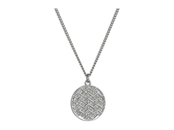 Cole Haan  - Chevron Pave Medallion Necklace