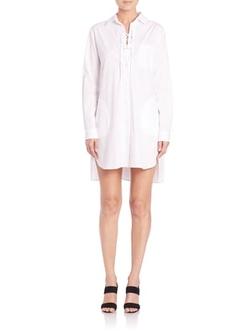 Thakoon - Lace-Up Shirtdress