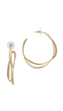 Alexis Bittar  - Encrusted Orbiting Hoop Earrings