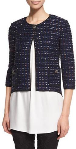 St. John Collection  - Dana Tweed 3/4 Sleeve Jacket