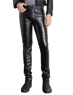Moonwalk - Faux PU Leather Biker Pants