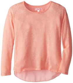 Sugartart Love - Girls 7-16 Light Weight Sweater with Chiffon Back