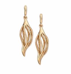Oscar De La Renta - Golden Lily Drop Earrings