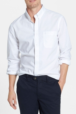 Nordstrom - Smartcare Trim Fit Oxford Non-Iron Sport Shirt
