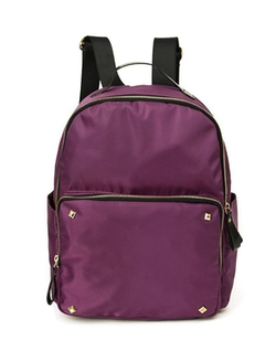 Uxcell - Studded Detail Zip Closure Backpack
