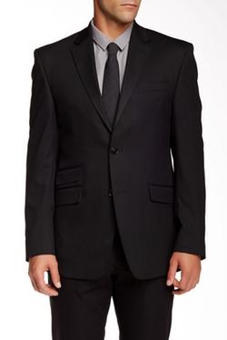 Perry Ellis - Black Shadow Cord Two Button Notch Lapel Slim Fit Suit Separates Jacket