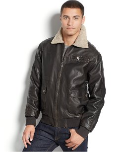 Sean John  - Sherpa-Collar Bomber Jacket