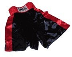 Amber - Black With Red Trim Boxing Shorts