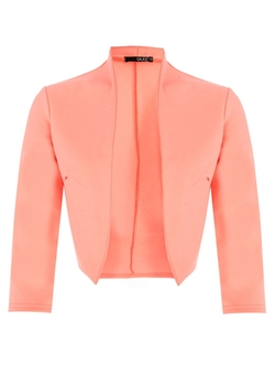 Dorothy Perkins - Quiz 3/4 Sleeve Crop Jacket
