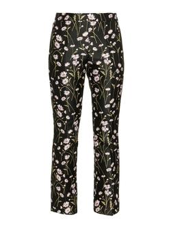 Giambattista Valli - Floral-Jacquard Kick-Flare Trousers