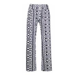 QZUnique - Printed High Waist Baggy Pants