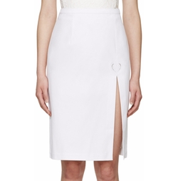 Christopher Kane - White Denim Slit Skirt