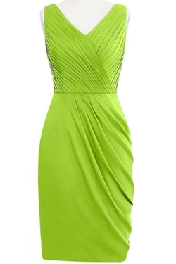 Orient Bride  - V-Neck Sheath Sleeveless Short Dress