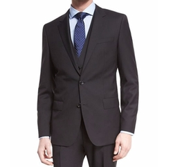 Boss Hugo Boss - Tonal-Stripe Three-Piece Wool Suit