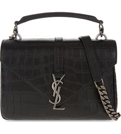 Saint Laurent - Monogram Collège Leather Satchel Bag