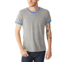Generic - Mens Contrast Eco-Jersey Ringer Crew T-Shirt