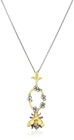 "Azaara  - ""Florentine"" Bumble Bee Pendant Necklaces"