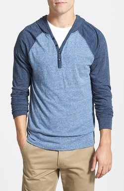 Lucky Brand  - Colorblock Hooded Henley Shirt