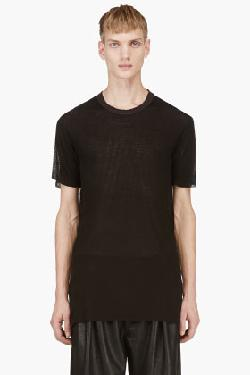 Silent By Damir Doma  - Black Micro Perforated Tari T-Shirt