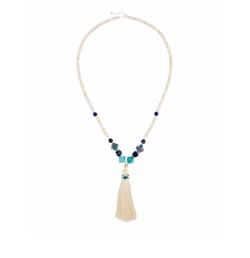 Nakamol  - Long Beaded Tassel Pendant Necklace